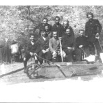 1935 - Getting ready for shoveling snow with Pyotter Zalevski the superintendent
