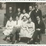 1934 - The instructors staff {Bursa}. This picture was taken in the year of 1934. Most of Shlomo's pictures were taken that year for sometimes he could use a camera then. Second party on the left is Felek Grzyb & his wife to be Blumka who went to Treblinka along with their toddler girl & DR. Korczak.