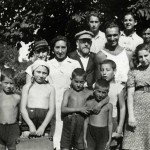 1934 - Dr. Korczak, Steffa & the children in summer camp in Gocławek.