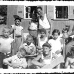 1934 - The children & the instructors in the summer camp.