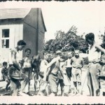 1937 - Road building in summer camp.