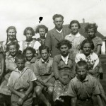 1934 - Igor Neverly in company with the children in Roziczka summer camp